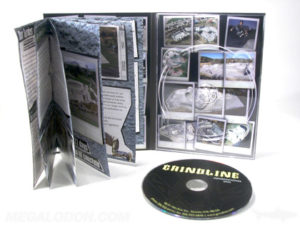 Tall DVD Digipak with booklet glued to left side