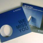 Die cut circle window in cd slipcase packaging, spot gloss matte lamination