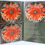 CD DVD digipak die cut pattern perfect bound book