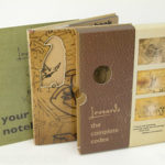 Custom organic digipak set with perfect bound notebook and slipcase