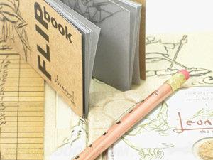 Vellum Flip book perfect bound for animation
