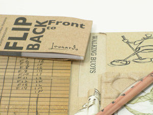 Flip book perfect bound in organic custom paper tray digipak