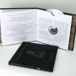 CD Book swinging sleeve with die cut hole