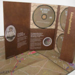 Custom die cut multidisc dvd digipak packaging with paper trays and cut out