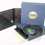 Linen wrapped box sets, gold foil stamping, deluxe multidisc digipak set