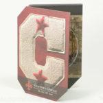 Custom die cut shape packaging letter C