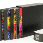 Leatherette material deluxe box set with digipaks