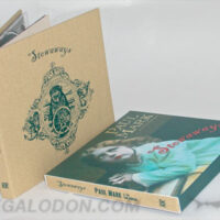 Linen wrapped cd book with slipcase