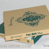 Linen cd book with 1C silkscreening and 4C slipcase, organic packaging