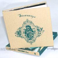 Linen CD Book fabric wrap on chipboard core 1C silkscreen printing