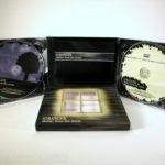 Die cut windows in slipcase digipak set, 2 cd set packaging