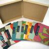 Tan kraft paper wrap on chipboard multi disc box set