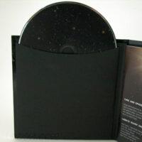 Black kraft paper disc sleeve in cd book