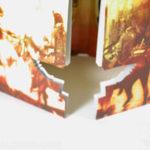 Die cut shape packaging 2cd set 8pp folder