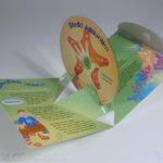 Custom pop up pak packaging die cut cd dvd