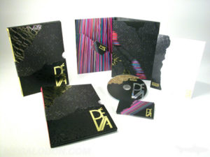 Spot gloss matte lamination along with embossing, debossing and gold foil on custom packaging
