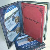 Multidisc hardbound dvd book double disc trays