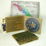 Paper Tray Digipak with tube pocket for posster, 100% recycled paper