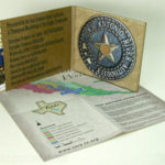 Digipak with paper tray 100% recycled paper cork hub